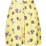 Topshop **Floral Box Pleat Button Up Skirt by Oh My Love
