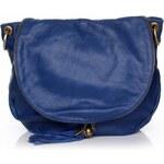 Genuine Leather Dámská kožená kabelka listonoška – vysoká kvalita modrá