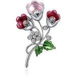 Roxi Elegantní brož ve tvaru tulipánu argentum