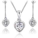 Roxi Souprava náušnic a náhrdelníku ve tvaru srdce