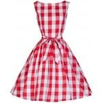 LINDY BOP Dámské šaty Audrey Vintage Piknik červené Velikost: 40