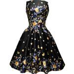 LADY VINTAGE Dámské retro šaty Noční motýl Velikost: 40