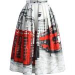CHICWISH Dámská sukně Midi OH London! Velikost: XL