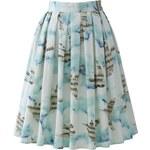 CHICWISH Dámská sukně Midi Flying Melody Bird Velikost: M