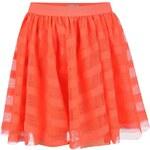 Neonově oranžová řasená holčičí sukně name it Gitta