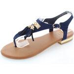 United Fashion Tmavě modré sandály Strapies