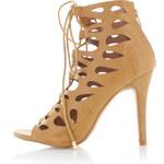United Fashion Skořicové sandály Tazira