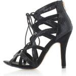 United Fashion Černé sandály Ljusy