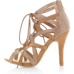 United Fashion Skořicové sandály Ljusy