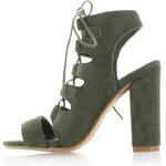 United Fashion Tmavě zelené sandály Victora