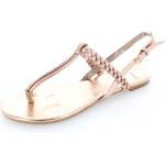 United Fashion Růžovo-zlaté sandály Fame