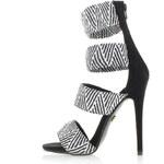 United Fashion Černo-bílé sandály Perua