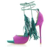 United Fashion Fialovo-tyrkysové sandály Feransa