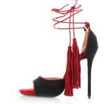 United Fashion Černo-červené sandály Feransa