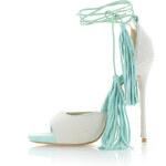 United Fashion Krémovo-mátové sandály Feransa