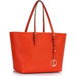 Kabelka London Bags oranžová
