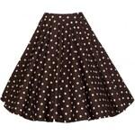Lindy Bop LindyBop hnědá retro sukně Peggy, s puntíky velikosti: 42