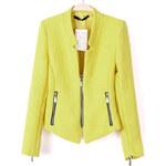 SHEIN Dámský kabátek Collar žlutý Velikost: M