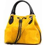 Kožená kabelka Flaminia žlutá