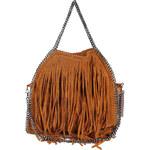 Kožená dámská kabelka Vera Pelle s třásněmi