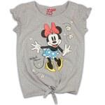 E plus M Dívčí tričko se zavazováním Minnie - šedé