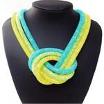 Lesara Sternenstaub-Halskette im Knoten-Design - Türkis-Gelb