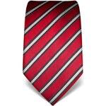 Pruhovaná kravata Vincenzo Boretti 21946 - červená