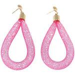 Lesara Sternenstaub-Ohrhänger im Tropfen-Design - Pink