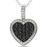 KRYSTYS Stříbrný náhrdelník se Zirkonem Ag925 Coeur de la nuit