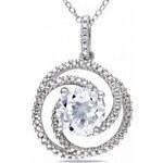 KRYSTYS Stříbrný náhrdelník se Zirkonem Ag925 Œil clair