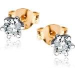 STAVIORI Zlaté náušnice s diamantem KBD4430