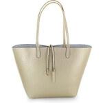 United Fashion Zlato-stříbrná kabelka 3v1 Double Effect