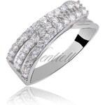 SENTIELL Stříbrný prsten osázen čirými zirkony