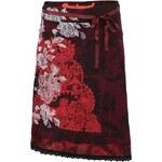 Vínová sukně s ornamenty Desigual Sacha