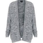 Topshop Lässiger Rippstrick-Cardigan in Tweed-Optik - Schwarz
