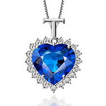 LightInTheBox Elegant Heart-Shape Women's Slivery Alloy Necklace(1 Pc)