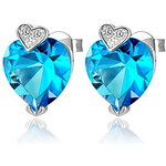 LightInTheBox Elegant Silver Plated With Cubic Zirconia Heart Women's Earrings(More Colors)