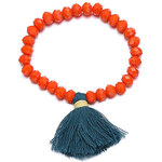 Náramek Tassels oranžový J01330