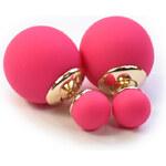Náušnice pod ucho 3v1 Perly pastelově růžové C54916