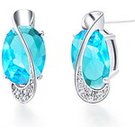 "LightInTheBox Gorgeous Silver Plated Silver With Blue Cubic Zirconia Letter ""S"" Women's Earring"