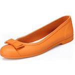 LightInTheBox Selftrend Women's Bow Flat Ultra-Soft Rubber Rain Shoes(Orange)