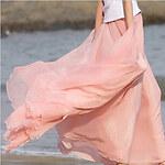 LightInTheBox Women's Chiffon Wide Swing Maxi Skirt