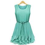 LightInTheBox Dexon Goods Women's ElegantSexy Green Round Neck Chiffon Dress