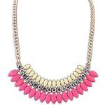 LightInTheBox European and America Fashion (Layer Drops) Resin Rhinestone Chain Statement Necklace (More Color) (1 pc)