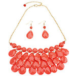 LightInTheBox Water Droplets Shaped Necklace Earrings Set (buy 1 get 2 free gifts)
