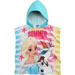 Disney Dívčí pončo/osuška Frozen - barevné