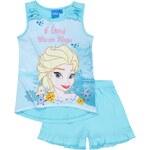 Disney Dívčí set tílka a šortek Frozen - modrý