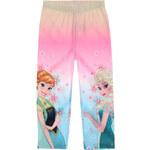 Disney Dívčí legíny Frozen Anna a Elsa - růžovomodré