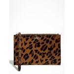 GUESS kabelka Wristlet Zip Pouch-leopard