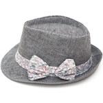 Art of Polo Dámský letní klobouk s mašlí - šedá cz15161.19 56 cm